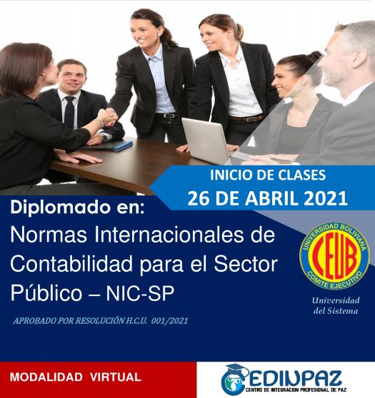 DIPLOMADO EN NORMAS INTERNACIONALES DE CONTABILIDAD PARA EL SECTOR PÚBLICO - NIC-SP